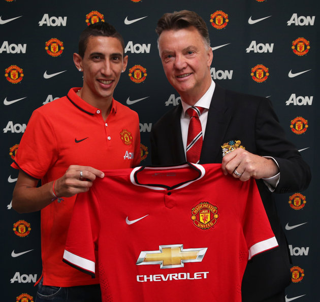 Angel Di Maria joins Man United for British record fee