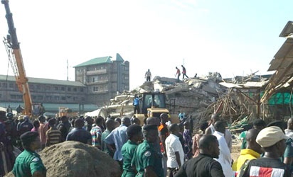 Update: 15 killed, scores still buried in rubbles at Pastor TB Joshua's Church