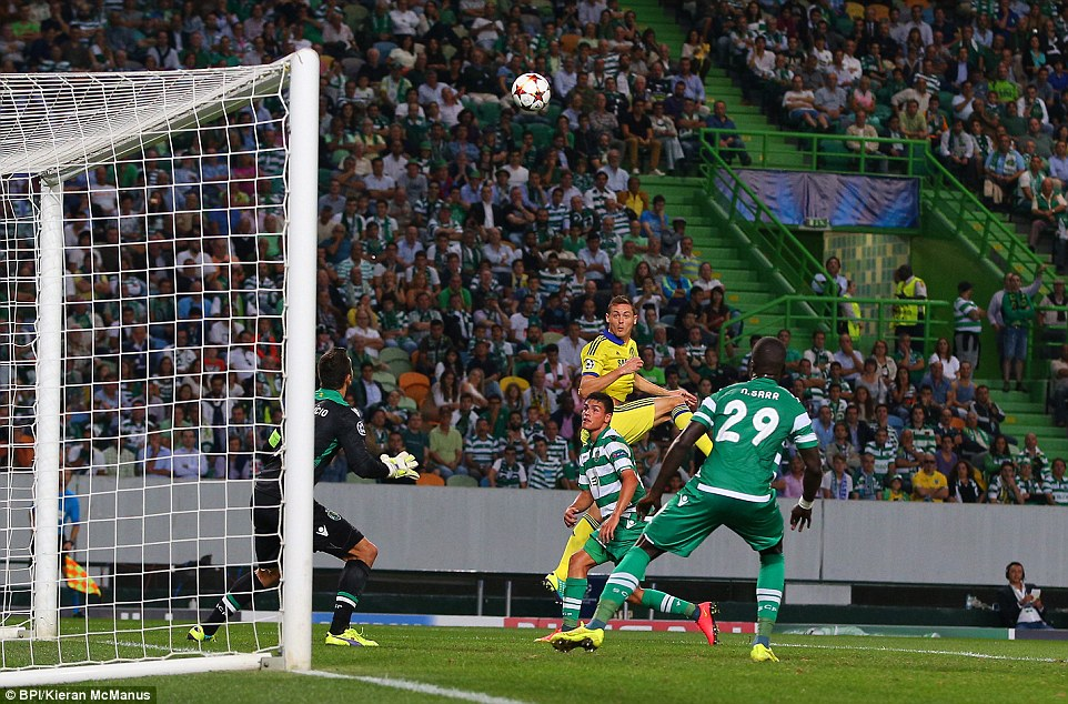 Nemanja Matic towering header gives Chelsea victory over Lisbon in  Portugal