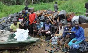 Military arrests 50 vandals, recovers 100 canoes, 3,000 jerrycans in Lagos