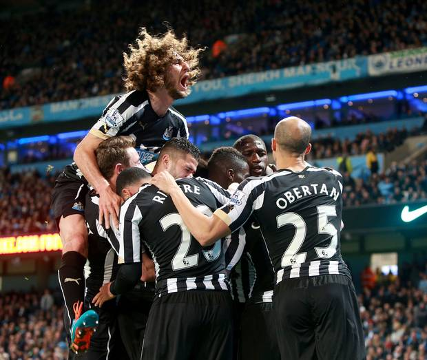 Newcastle beat Man City 2-0 to end the champions League Cup dream