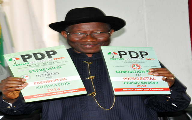 2015: GEJ Picks PDP Nomination Form, Promises To 'Move Faster'