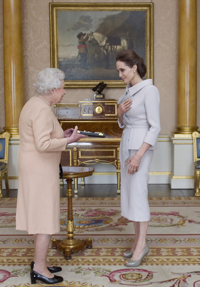 Angelina Jolie's meet-the-Queen outfit was spot on
