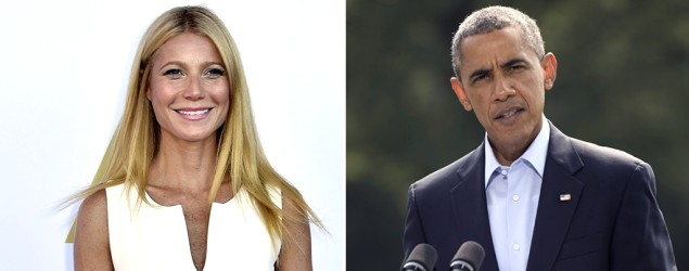 Obama raises money at a tongue-tied Gwyneth Paltrow's home