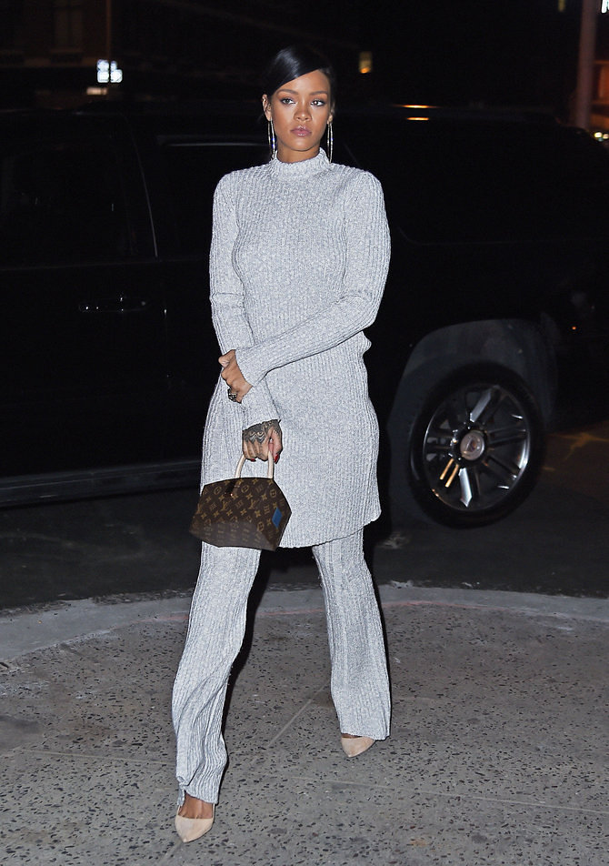 Rihanna goes conservative for grand pa's birthday party