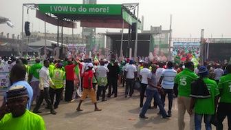PDP Presidential Campaign Flag-Off: Jonathan Locks Down Lagos