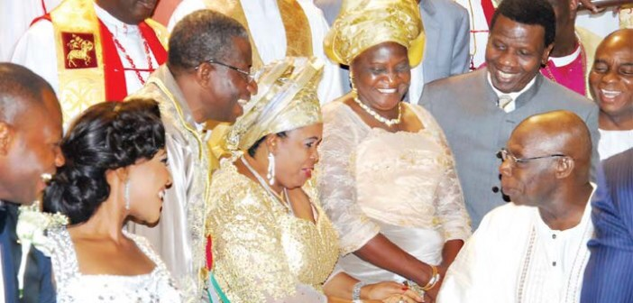 Obasanjo heralded by ovation in Jonathan's daughter's wedding
