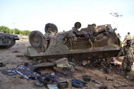 Nigerian troops arrest Boko Haram militants disguising  as women