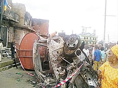 Tanker explosion rocks Lagos, 34 houses, 70 shops razed