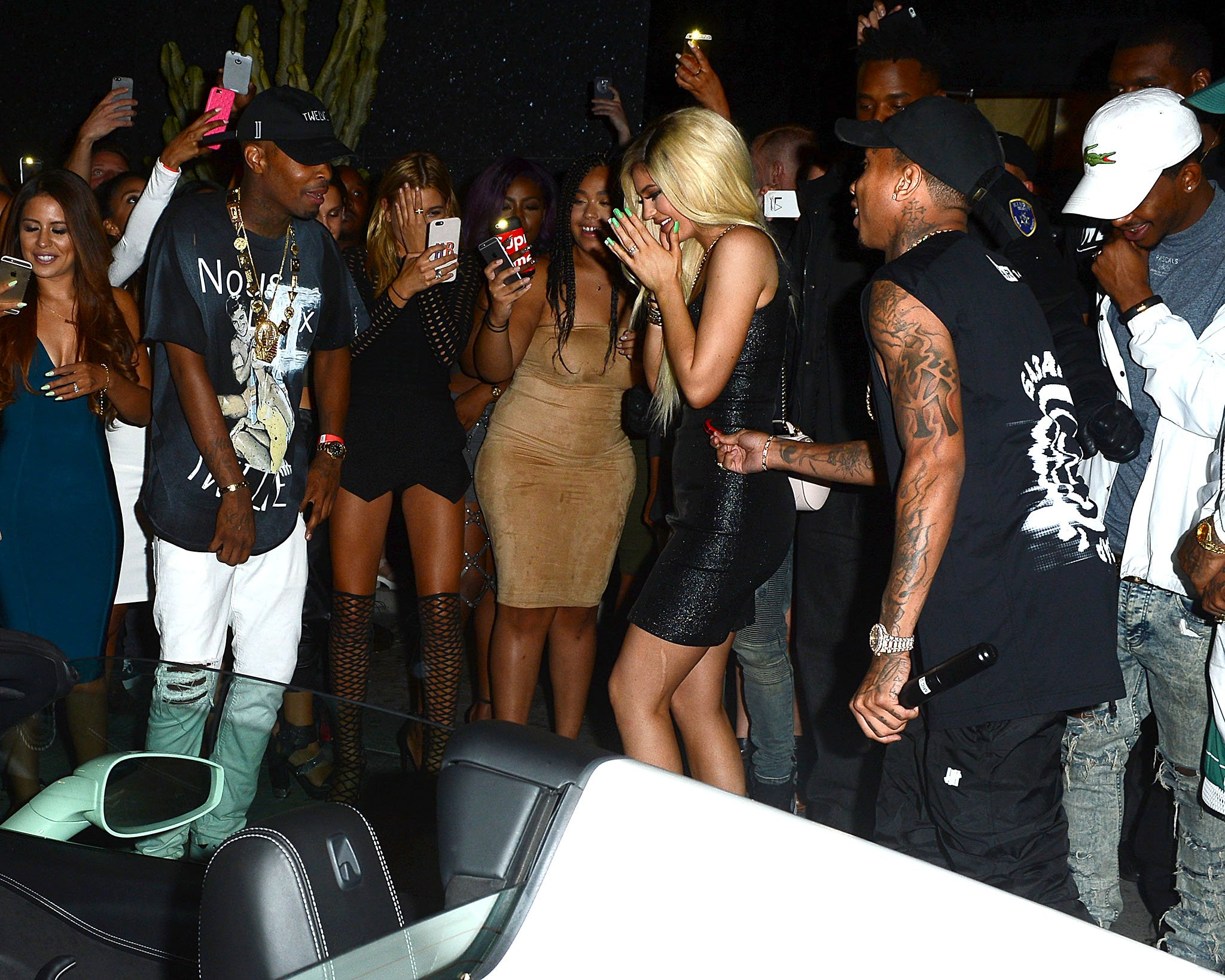 Kylie Jenner gets new Ferrari from Tyga at birthday bash