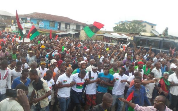 We have commenced printing of 40 million ballot papers for a referendum in the Southeast:  IPOB