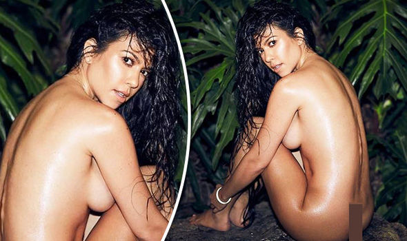 Kourtney Kardashian poses COMPLETELY NAKED and flashes sideboob in jaw-dropping snap