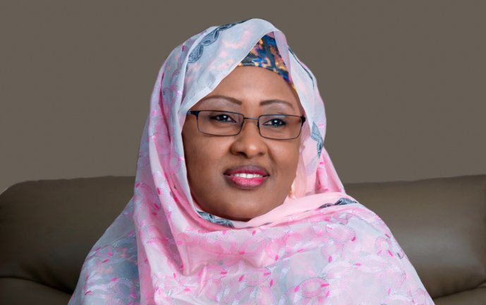 Aisha Buhari back from UK, says President grateful to Osinbajo for his 'loyalty'