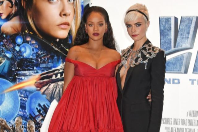 Rihanna knows you're not looking at her dress: 'Eyes up here'