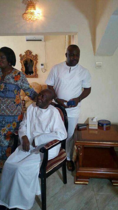 Photo of allegedly sick Senator Arthur Nzeribe  goes viral