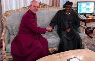 Archbishop of Canterbury Welby visits Buhari, delighted by president's rate of recovery