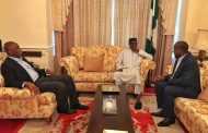 Saraki, Dogara  visit Buhari in London, hopeful of his imminent return