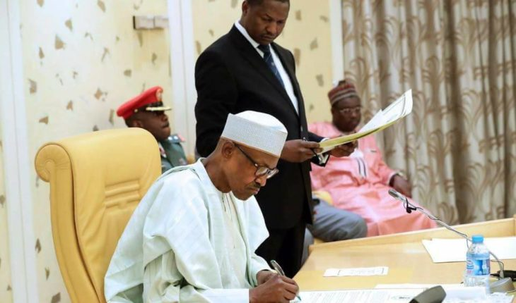 President Buhari seeks Senate approval to borrow $5.5 billion.