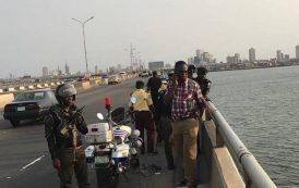 40-year-old man, Famous-Cole, jumps into the lagoon in Lagos