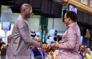George Weah storms TB Joshua's church ahead of Linberia's presidential run off election