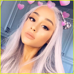 Ariana Grande shows off her new grey (not silver!) hair on Instagram