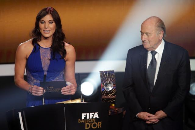 Sepp Blatter in trouble again. US female soccer star Hope Solo insists he sexually assaulted her