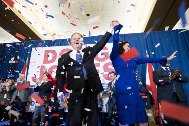 Democrat's Doug Jones wins a stunning  victory over Republican in Alabama Senate seat