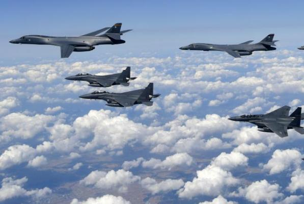U.S. defies North Korea with war drills involving 230 aircraft