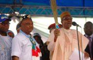 Buhari calls APC Gov candidate in Delta 'presidential candidate'