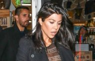 Kourtney Kardashian wore a *very* naked shirt out to dinner with Scott Disick and Sofia Richie