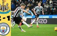 Newcastle shock Man City as Burnley end Man United run