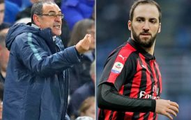 Gonzalo Higuain to have Chelsea medical after Juventus confirmation