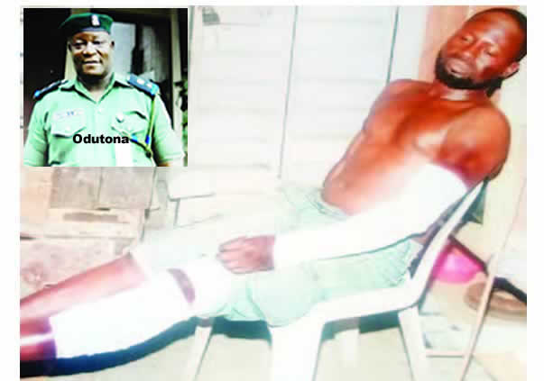 Power-drunk DPO breaks Lagos carpenter's hand, leg