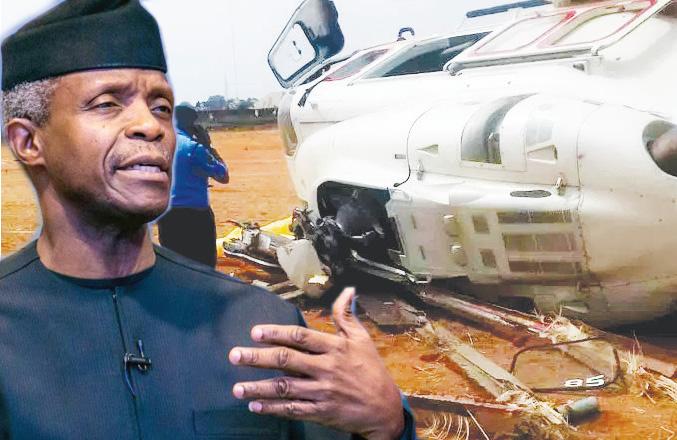 Helicopter crash: Osinbajo says God, Adeboye's prayers delivered him