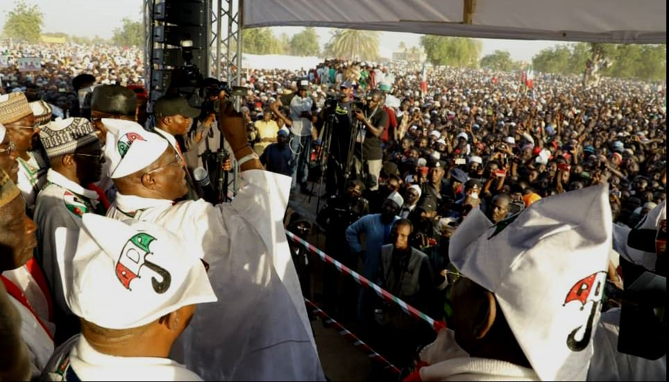 Nine slumps in  kano as massive crowd turn up at Atiku rally