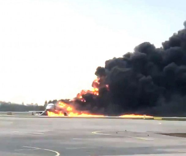 41 people killed after plane erupts in flames in emergency landing at Russian airport