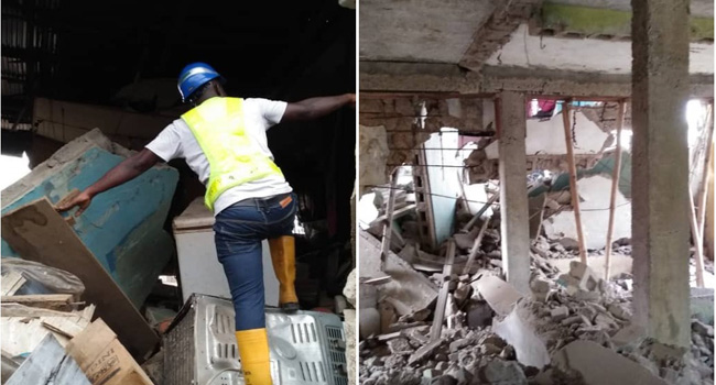 Eight injured as building collapses in Oshodi, Lagos