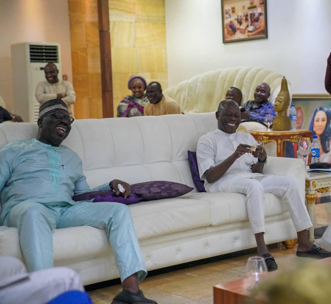 New twist in Edo political saga as Obaseki pays Oshiomole, Otaru of Auchi surprise visit