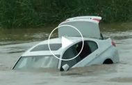 Spoiled brat drives new BMW into river because he wanted a Jaguar