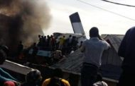 Passenger plane carrying 18 people crashes in Goma