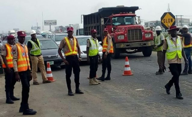 Traffic diversion at 'Kara Bridge' of Lagos-Ibadan r~oad after Yuletide