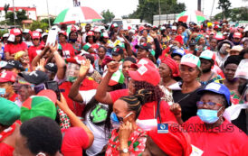 Edo crisis: PDP supporters protest as Gov. Obaseki says taker-over of Assembly is 'coup d'état'