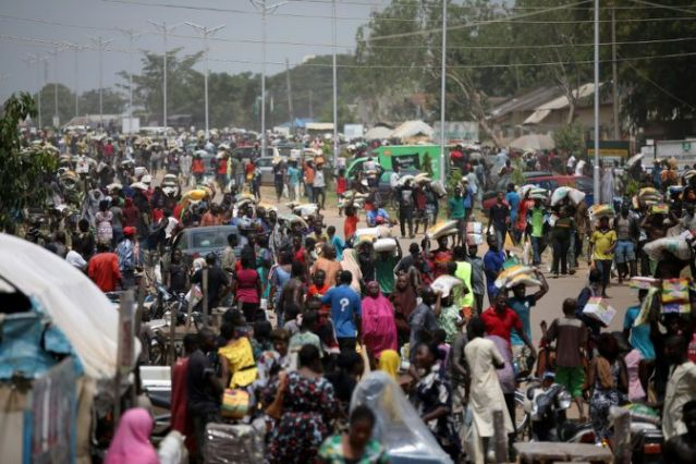 Looting spree in Abuja on Monday