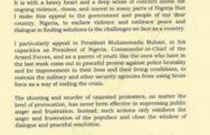 Obasanjo writes Buhari on Lekki killings, urges him to act before it's too late