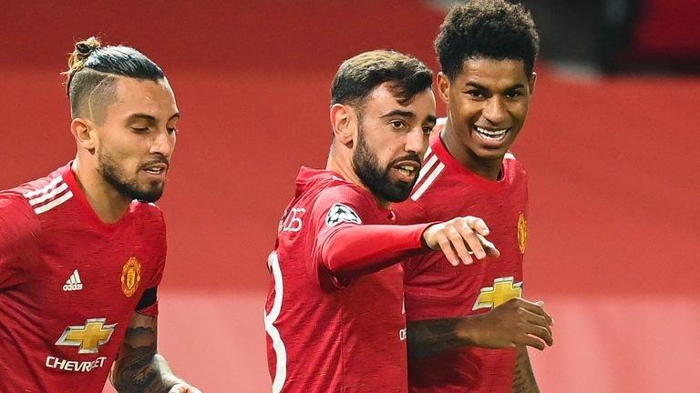 Man Utd 4-1 Istanbul Basaksehir: Bruno Fernandes shines as hosts edge closer to Champions League last 16