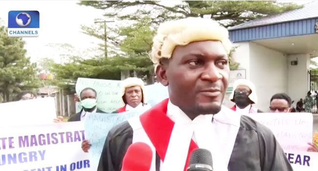 'Dialogue with ith govt has failed': Cross River magistrates protest non-payment of salaries