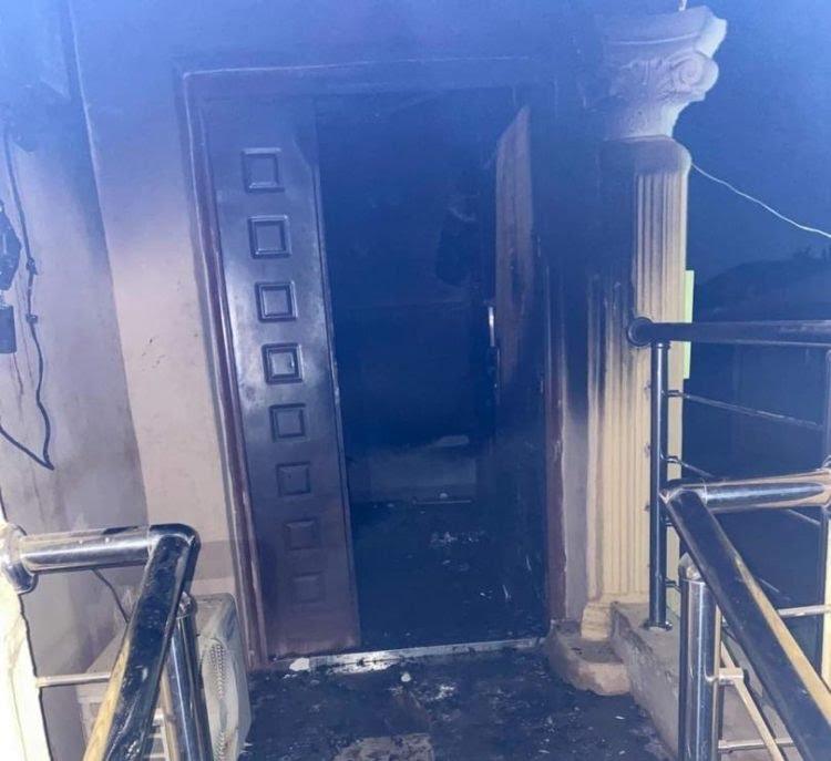 Fire guts multimillion naira mansion belonging to Yoruba activist Sunday Igboho