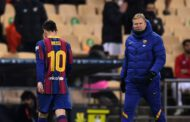 Messi shown first red card of Barcelona career after lashing out in Super Cup defeat to Athletic