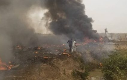 Military aircraft  crashes in Abuja, with all on board feared dead