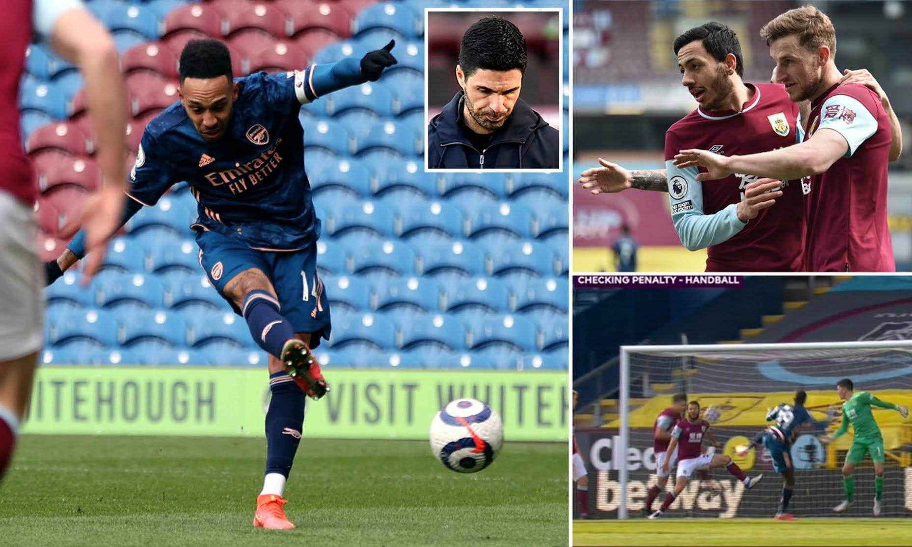 Burnley 1-Arsenal 1: Granit Xhaka error costs Gunners in Premier League clash